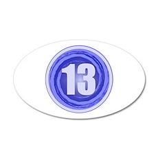 13th Birthday Boy 22x14 Oval Wall Peel