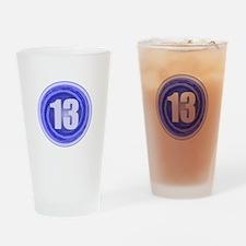 13th Birthday Boy Drinking Glass