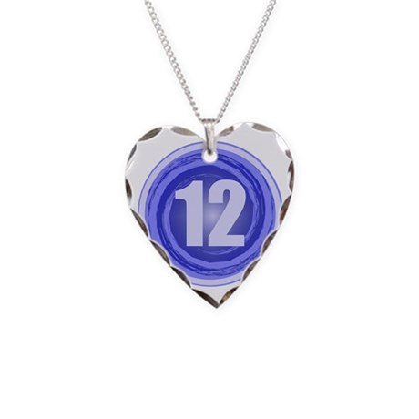 12th Birthday Boy Necklace Heart Charm