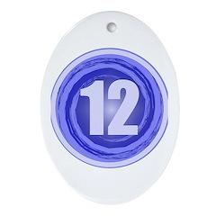 12th Birthday Boy Ornament (Oval)