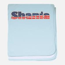 American Shania baby blanket