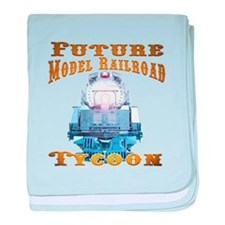 Future Model Railroad Tycoon baby blanket
