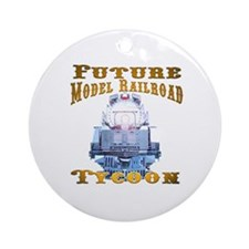 Future Model Railroad Tycoon Ornament (Round)