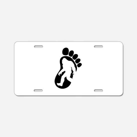 Yeti Footprint Aluminum License Plate