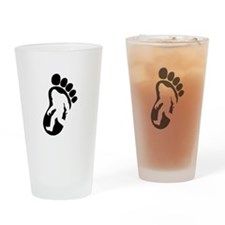 Yeti Footprint Drinking Glass