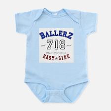 """EAST SIDE BALLERZ 718"" Infant Creeper"