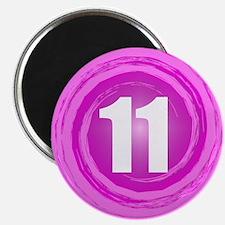 "11th Birthday Girl 2.25"" Magnet (10 pack)"