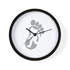 Yeti Footprint Wall Clock