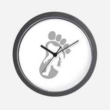 Yeti Footprint Wall Clock