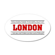 'Girl From London' 22x14 Oval Wall Peel