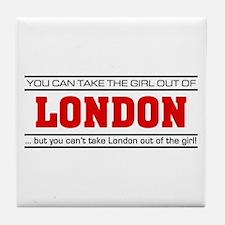 'Girl From London' Tile Coaster