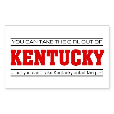 'Girl From Kentucky' Sticker (Rectangle)