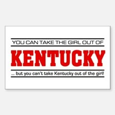 'Girl From Kentucky' Sticker (Rectangle)