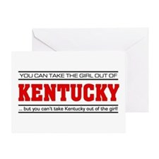 'Girl From Kentucky' Greeting Card