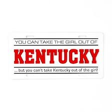 'Girl From Kentucky' Aluminum License Plate