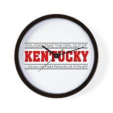 'Girl From Kentucky' Wall Clock