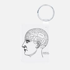 Cute Phrenology head Keychains