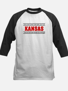 'Girl From Kansas' Kids Baseball Jersey