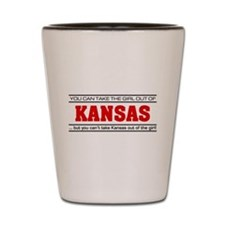'Girl From Kansas' Shot Glass