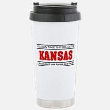 'Girl From Kansas' Travel Mug