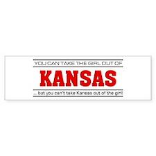 'Girl From Kansas' Bumper Sticker