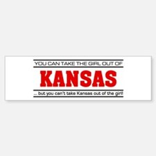'Girl From Kansas' Car Car Sticker