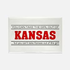 'Girl From Kansas' Rectangle Magnet