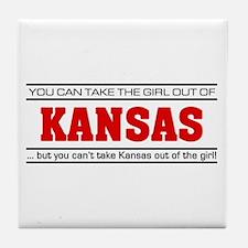 'Girl From Kansas' Tile Coaster
