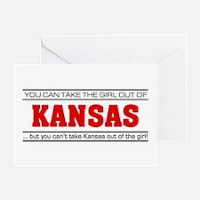 'Girl From Kansas' Greeting Card