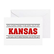 'Girl From Kansas' Greeting Cards (Pk of 10)