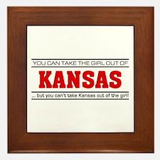 'Girl From Kansas' Framed Tile