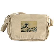 Funny Hokusai the great wave Messenger Bag