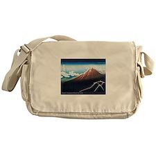 Thunderstorm Japanese Print A Messenger Bag