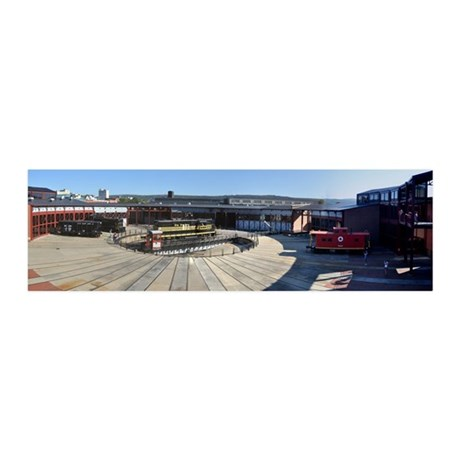 Steamtown Roundhouse Train 21x7 Wall Peel