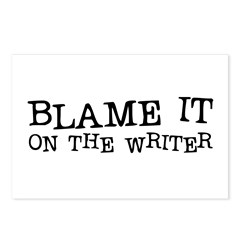 Blame it on the Writer! Postcards (Package of 8)