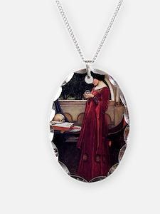 Unique Pagan Necklace Oval Charm