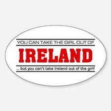 'Girl From Ireland' Decal