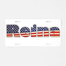 American Reina Aluminum License Plate
