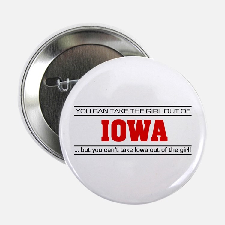 "'Girl From Iowa' 2.25"" Button"