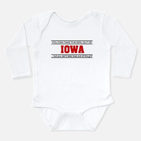 'Girl From Iowa' Long Sleeve Infant Bodysuit