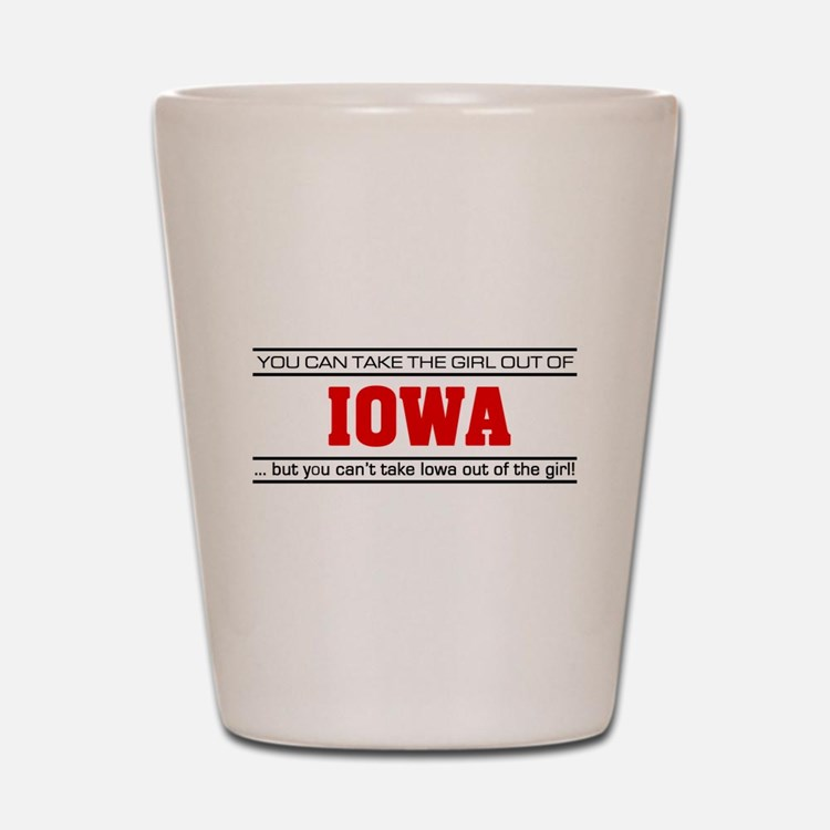 'Girl From Iowa' Shot Glass