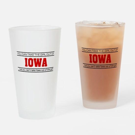 'Girl From Iowa' Drinking Glass