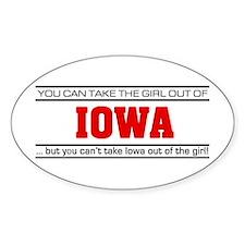 'Girl From Iowa' Decal