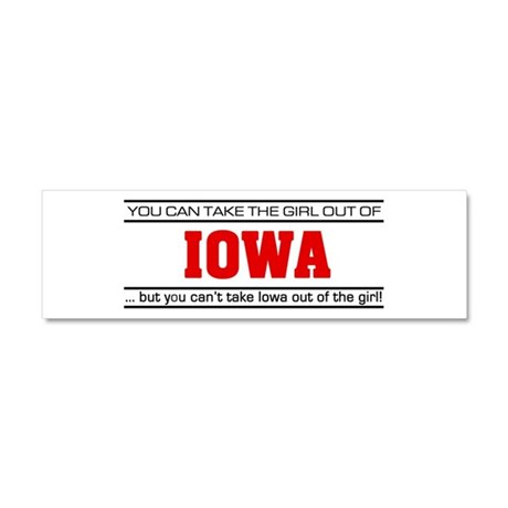 'Girl From Iowa' Car Magnet 10 x 3