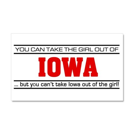 'Girl From Iowa' Car Magnet 20 x 12