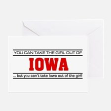 'Girl From Iowa' Greeting Card