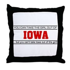 'Girl From Iowa' Throw Pillow