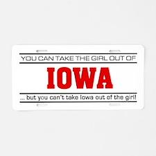 'Girl From Iowa' Aluminum License Plate