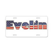 American Evelin Aluminum License Plate