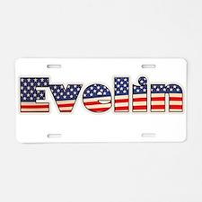American Evelin Aluminum License Plate